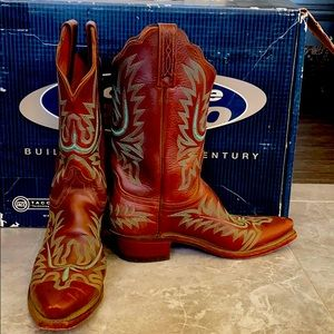 Lucchese Cowboy Boots Roper Black Elephant